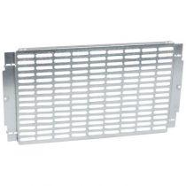 Platine universelle perforée - pour coffrets et armoires XL³ 400 - H 300 mm (020242)