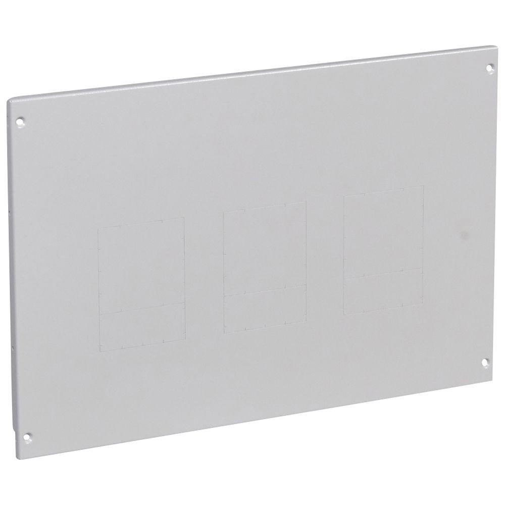 Plastron métal XL³ 800/4000 - à vis - 1 à 3 DPX 250/630 - vert - H 400 - 24 mod (020920)