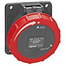 Socle tableau Hypra - IP66/67-55 - 16 A - 380/415 V~ - 3P+T - plast (051130)