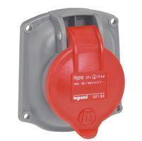 Socle tableau Hypra -IP44- 16 A - 380/415 V~ - 3P+N+T - plast - rempl M-L 16A (052184)