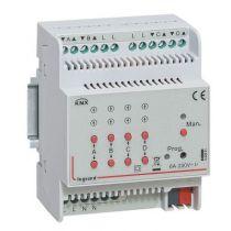 Contrôleur modulaire BUS/KNX - volets roulants - 4 sorties 2,1 A - 4 mod (002691)