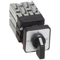 Mini commutateur de mesure de voltmètre - sans neutre - fixation Ø22 (023527)