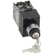 Commutateur - inverseur avec arrêt - tête de cde clé - PR 12 - 4P - fix Ø22 (027582)