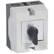 Commutateur - inverseur avec arrêt - PR 26 - 2P - 4 contacts - boîtier 96x120 mm (027741)