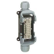 Connect multipôles Hypra - 16 A - 500 V - 16P+T - emb fem saillie - 2 entrées (053172)