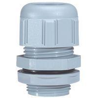 Presse-étoupe à entrées multiples plast - IP 66 - ISO 25 - RAL 7001 (098049)