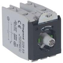 Osmoz compo - sous-ensemble bloc - tête lum - à vis - 12/24V~/= - 2NO/NF vert (022982)