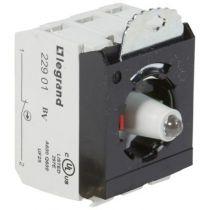 Osmoz compo - sous-ensemble bloc - tête lum - à vis - 230V~ - NO+NF vert (023015)