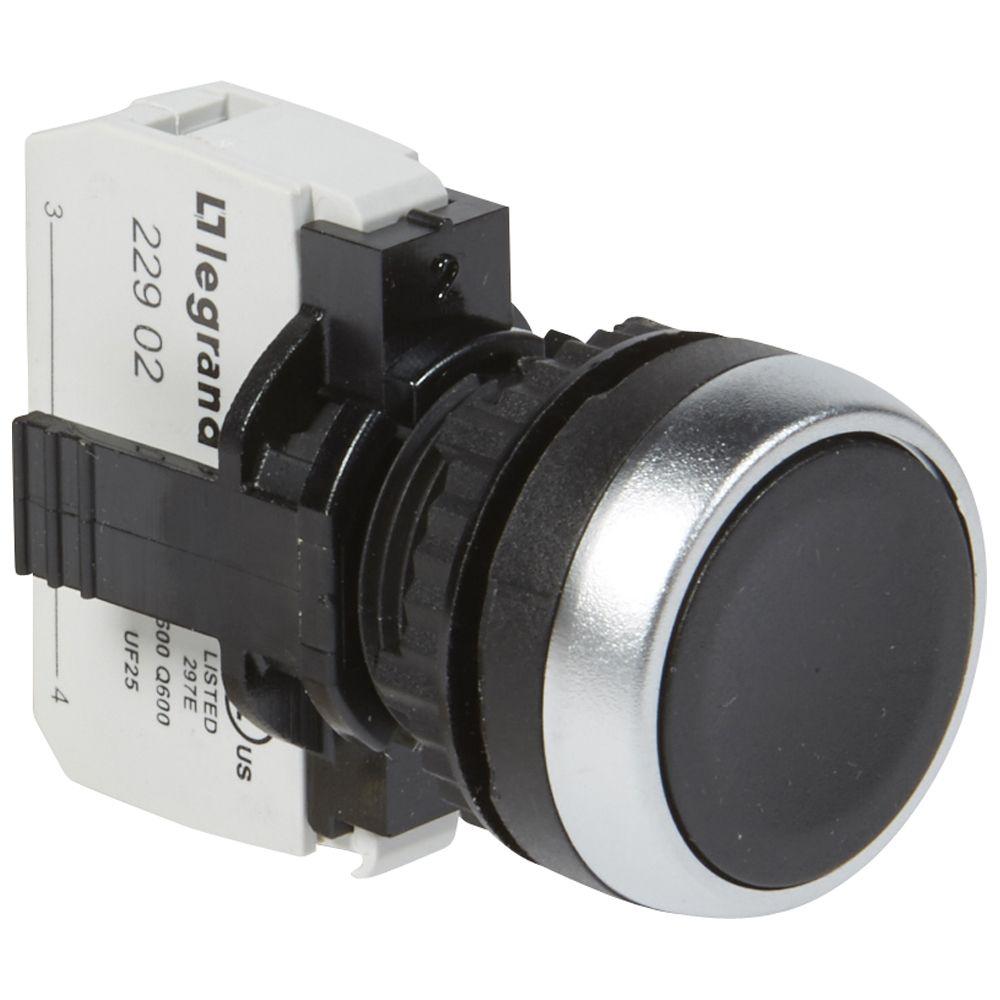 Osmoz complet non lum à impulsion - affleurant IP 66 - noir (023706)