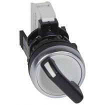 Osmoz complet non lum - bouton noir IP66 tournant à manette - 2 positions fixes (023730)