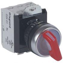Osmoz complet lum - bouton tournant à manette - rouge - 24V~ - 2 positions fixes (023761)