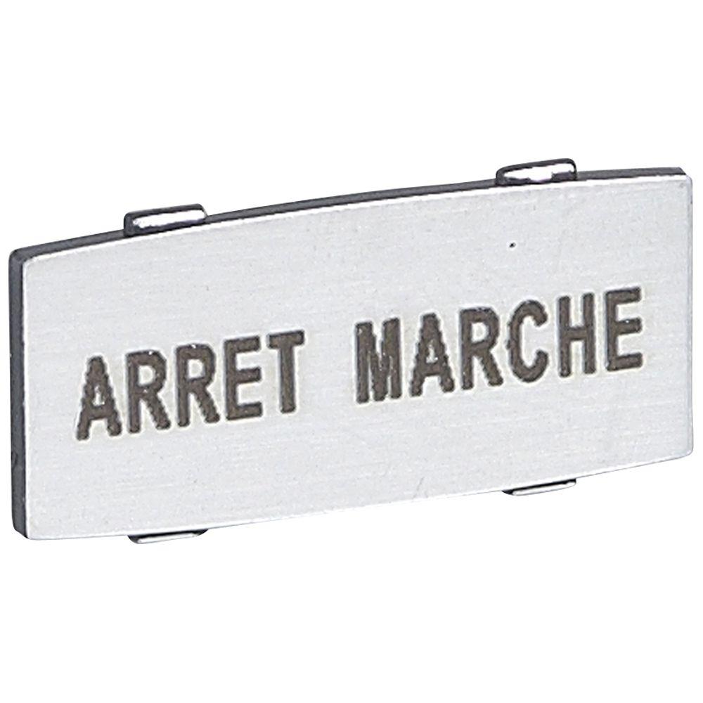 Osmoz étiquette - insert - avec texte - alu - petit modèle - ''ARRET-MARCHE'' (024342)