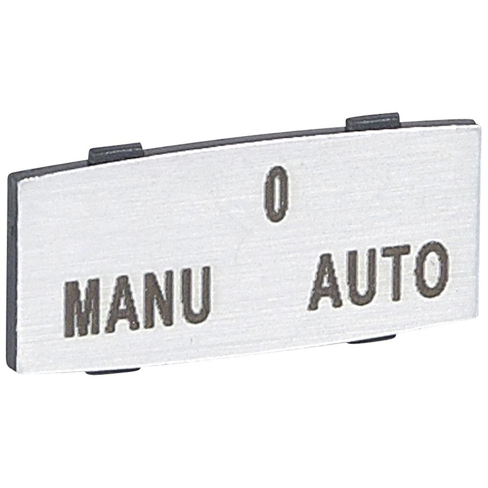 Osmoz étiquette - insert - avec texte - alu - petit modèle - ''MANU-O-AUTO'' (024344)