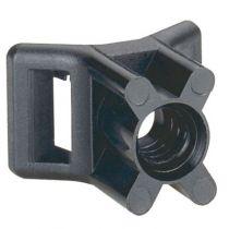 Embase à visser - protégé UV - fixable par cheville réf. 319 57 - noir (031950)