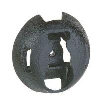 Embase fixable par cloueur Pulsa - protégé UV - noir (031959)
