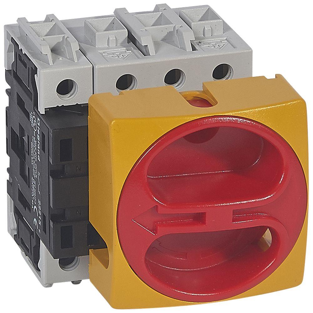 Inter sectionneur rotatif complet - encastré cadenassable - 4P neutre G - 63 A (022115)