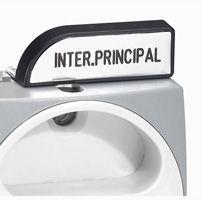 Etiquette de fonction pour plastron cadenassable - '' Inter principal '' (022281)