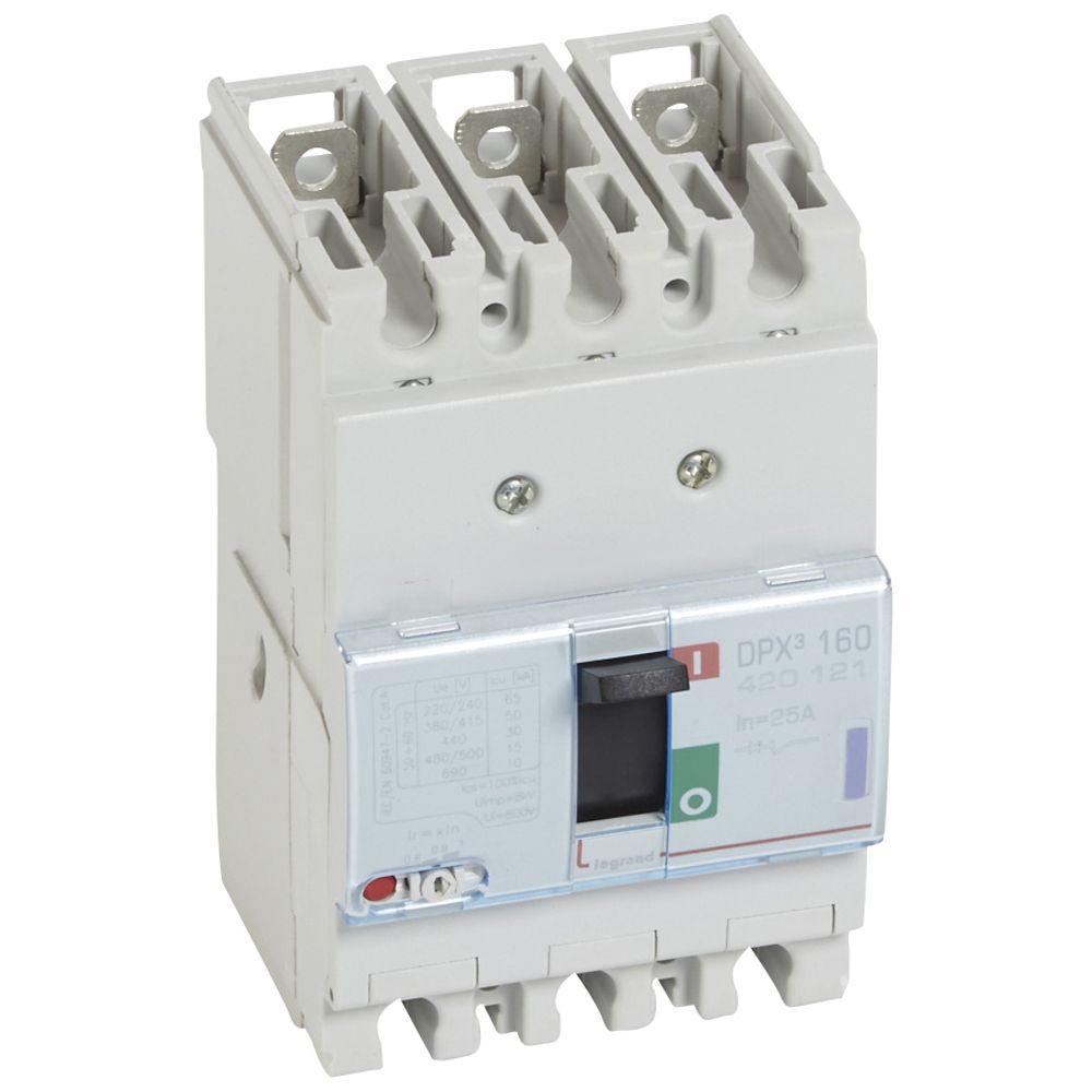 Disj puissance DPX³ 160 - magnéto-thermique - 50 kA - 3P - 25 A (420121)