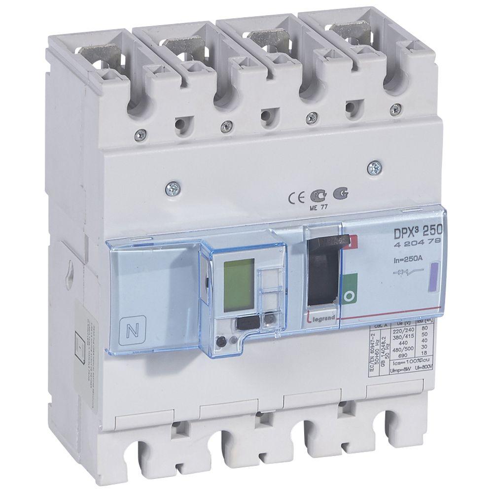 Disj puissance DPX³ 250 - électronique à unité de mesure - 50 kA - 4P - 250 A (420479)