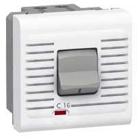Disjoncteur Prog Mosaic - magnéto thermique 1P+N - 230 V~ - 16 A - 2 mod - blanc (077522)