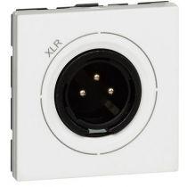 Prise audio Prog Mosaic - XLR 3 pôles - mâle - 2 modules - blanc (078756)