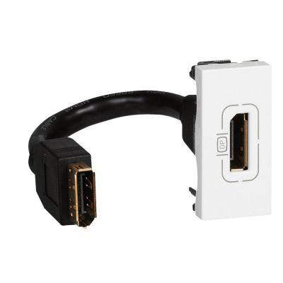 Prises Display port - préconnectorisée - 1 module - blanc (078791)