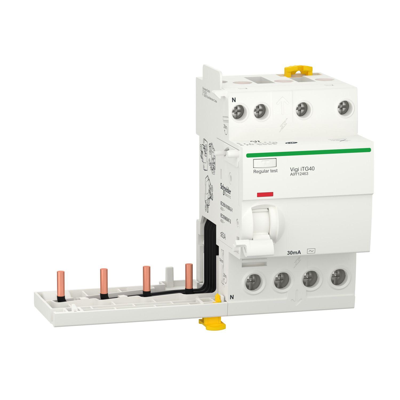 Acti9 iTG40 module différentiel Vigi tête de groupe 4P 63A 30mA type AC (A9Y12463)
