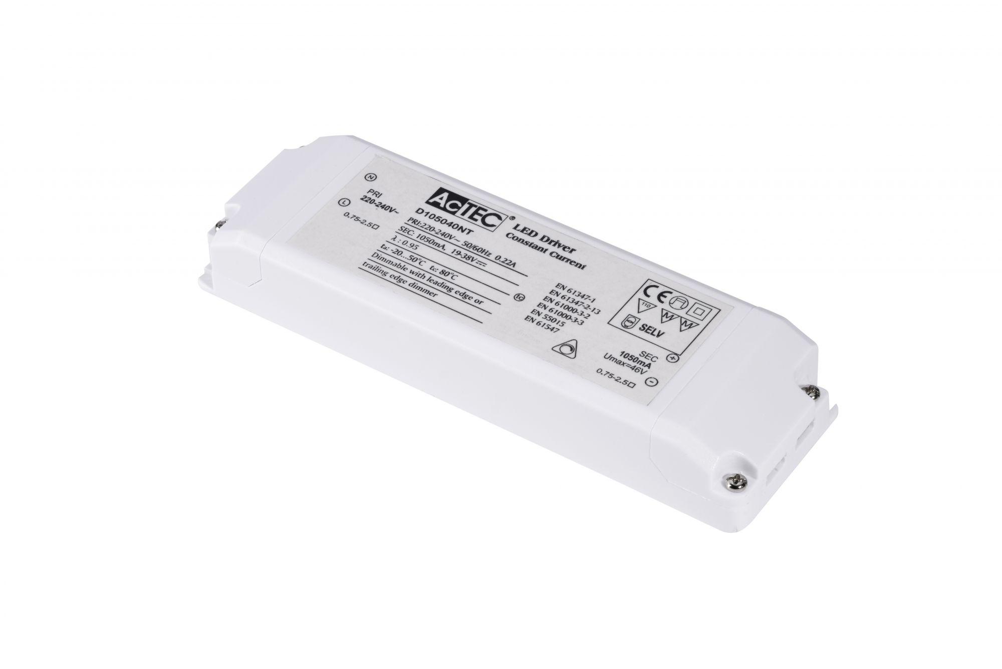 Alimentation LED, intérieur, 1050mA, 40W, blanc, serre-câble inclus, variable (464804)