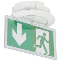 BAES+BAEH d\'évacuation- Kickspot encastré ECO1 -LEDs 45lm-1h plastique IP40-IK04 (062514)