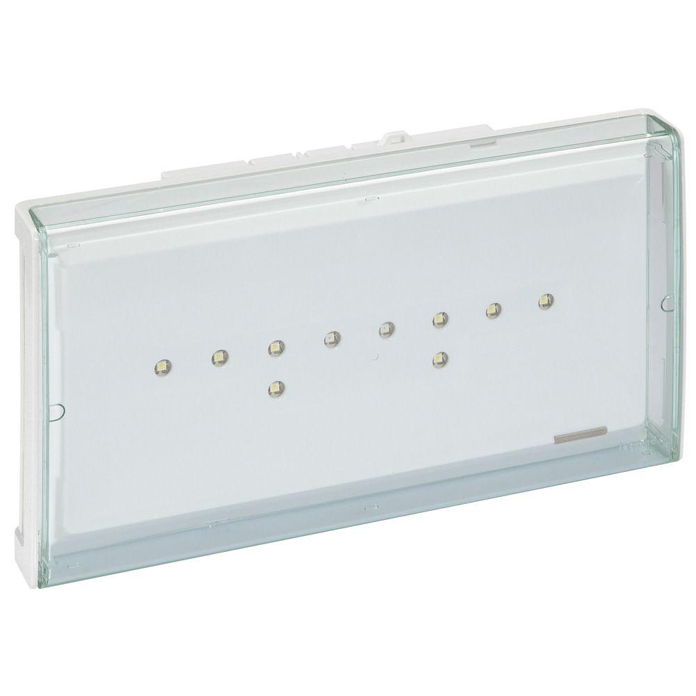 BAES+BAEH d\'évacuation ECO 2 à LEDs 45lm-1h plastique IP43-IK07 SATI adressable (062660)