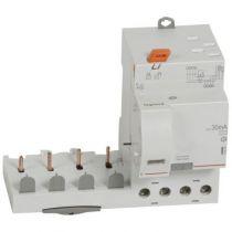 Bloc diff adapt DX³-auto-4P-400 V~-40 A-type AC-30 mA-Disjoncteur 1 mod/pôle (410505)