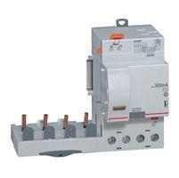 Bloc diff adapt DX³-auto-4P-400 V~-63 A-type AC-300 mA-Disjoncteur 1 mod/pôle (410518)