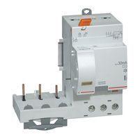 Bloc diff adapt DX³-vis-3P-400 V~-40 A-type AC-30 mA-Disjoncteur 1 mod/pôle (410471)