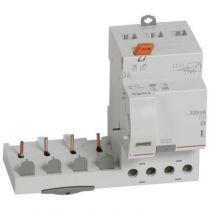 Bloc diff adapt DX³-vis-4P-400V~-40A-typeAC-300mA-Disjoncteur 1mod/pôle-câbl trad (410511)