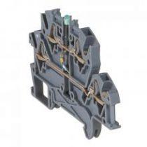 Bloc jonc Viking 3 à ressort - 2 jonc/4 conduc/2 étages à diode/gris - pas 5 (037255)