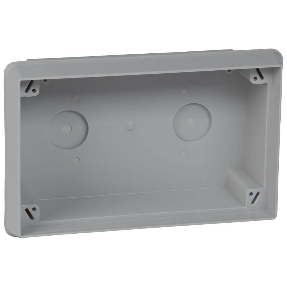 Boîte de dérivation grande capacité Batibox béton - 193 x 303 x 92 mm