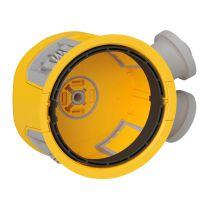 Boîte Modul\'up pour faux plafond diamètre 80mm profondeur 50mm avec 2 entrées 20mm connexion sans outil 6x1,5mm² (088500)
