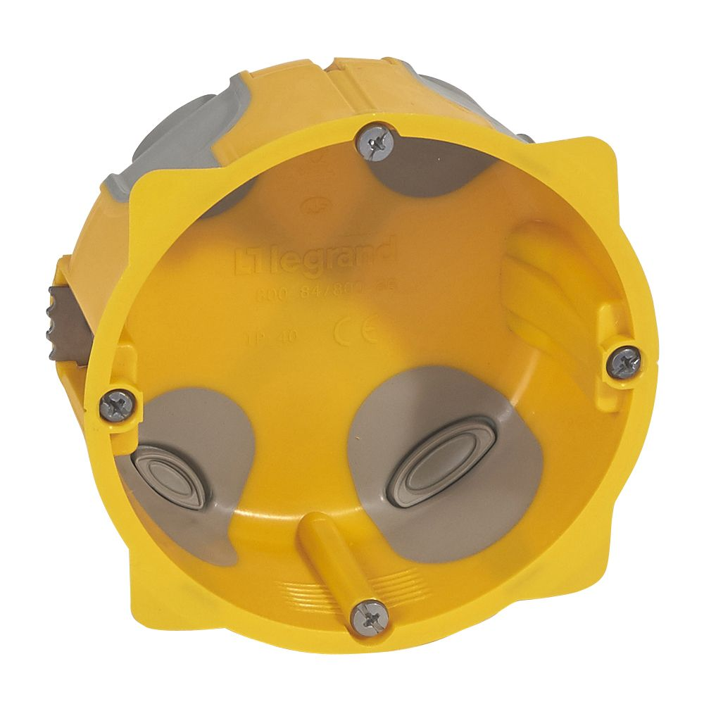 Boîte monoposte Ecobatibox pour prise 20 et 32 A - Ø 85 mm - prof 40 mm
