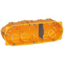 Boîte multiposte Batibox - cloison sèche - 3 postes - 6/8 mod - prof. 40
