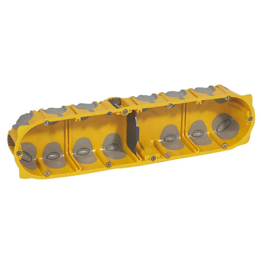 Boîte multipostes Prog. Ecobatibox - 4 postes - 8/10 modules - prof. 40 mm