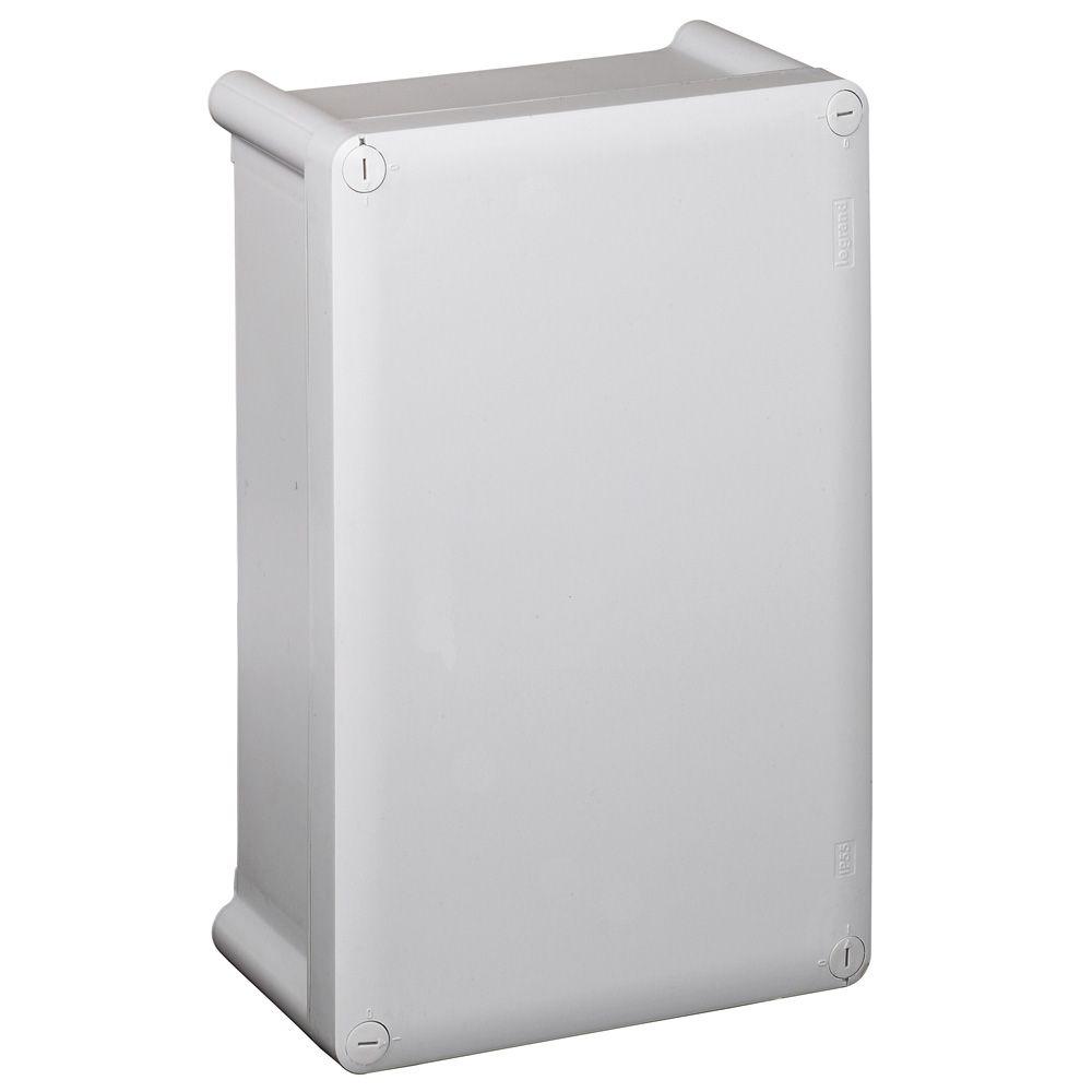 Boîtier industriel plastique - IP55 IK07 - RAL 7035 - 270x170x86 - couv opaque (035970)