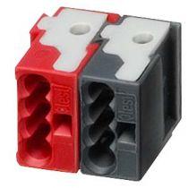 Bornes de connexion Tebis rouge / noir (TG008)