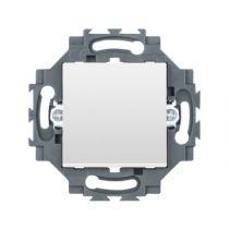 Bouton Poussoir 1P Connexion Automatique 10A Blanc (35021W)