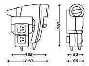 BRITTONY blanc + support frontal PR MT (8221186)