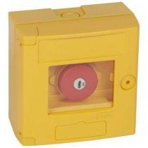 Coffret de sécurité \'\'bris de glace\'\' - coup de poing - jaune - saillie (038002)