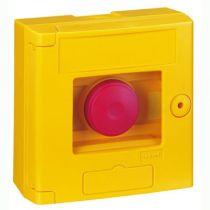 Coffret de sécurité \'\'bris de glace\'\' - double position - jaune - saillie (038001)