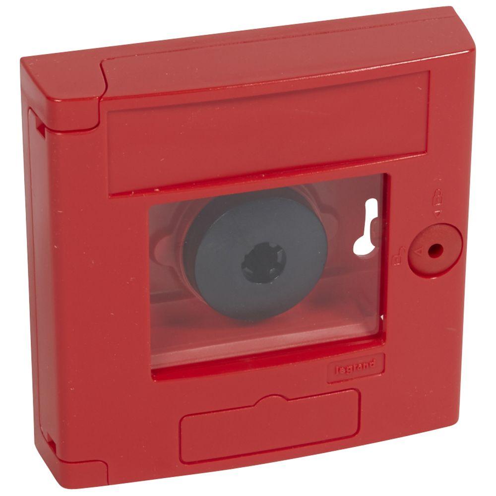 Coffret de sécurité \'\'bris de glace\'\' - double position - rouge - encastré (038061)