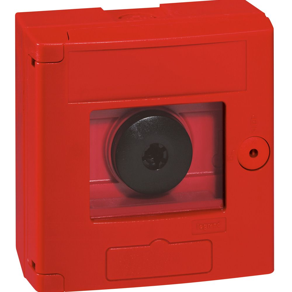 Coffret de sécurité \'\'bris de glace\'\' - double position - rouge - saillie (038011)