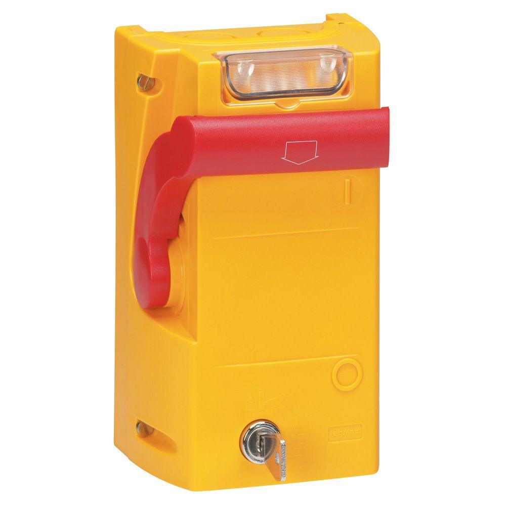 Coffret de sécurité à manette - pour coupure d\'urgence - signalisation 48 V= (038098)
