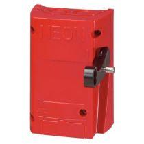 Coffret de sécurité rouge pr coupure enseigne lumineuse-2P-16 A-250 V-ss voyant (038051)